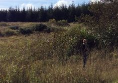 Anna Olson Nugent scouting for Seamus Scanlon's The Long Wet Grass film in the wilds of County Mayo. The short film is included in many film festivals.