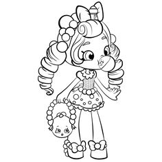 shopkins shoppies gum baloon coloring pages printable and coloring book to print for free find more coloring pages online for kids and adults of shopkins - Easy Coloring Pages For Girls