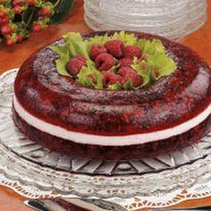 Raspberry Gelatin Ring Recipe | Taste of Home Recipes - via http://bit.ly/epinner