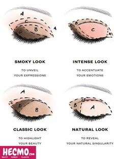 Here are a few ways to get the perfect eye makeup. #MakeupHack  #Makeiptips #Hecmo