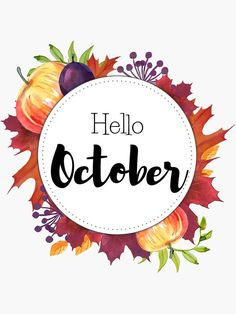 Hello October Bullet Journal Month, Bullet Journals, Apple Festival, Hello October, Journal Stickers, Birthday Month, Planner Organization, Printable Stickers, Transparent Stickers