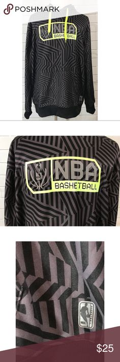 "UNK NBA Basketball Hoodie Sweatshirt UNK NBA Basketball Gray Black Neon Green Hoodie Sweatshirt XXL L/S Front Pouch. Pre owned in great condition with some light piling in different areas. Measurements are approximate arm pit to arm pit laying flat 27""; shoulders 22""; sleeves 26""; length 30"". UNK Shirts Sweatshirts & Hoodies"
