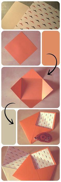 66 Trendy craft paper envelope diy – Do it Yourself Handmade Envelopes, Paper Envelopes, Square Envelopes, Small Envelopes, Envelope Diy, Origami Envelope, Diy Paper, Paper Crafts, Origami Paper