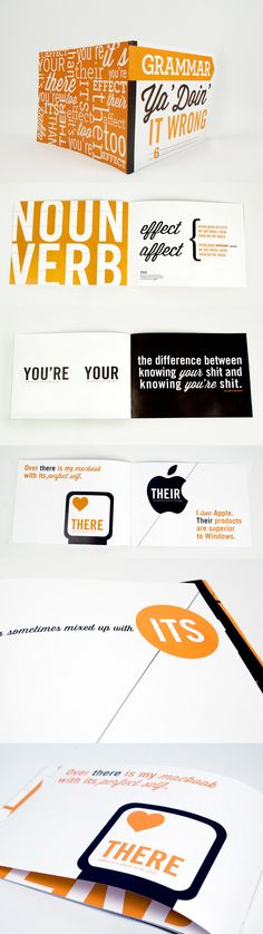 Beautiful grammar guide. If all textbooks were this nicely designed, we'd probably be more likely to remember the lessons.