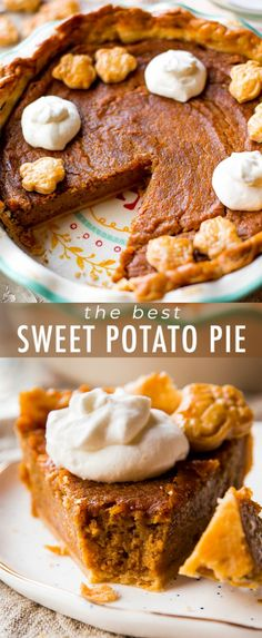 Move over pumpkin pie, brown sugar sweet potato pie tastes even better with more texture and lots of brown sugar and spice flavor! Sweet Potato Pudding, Sweet Potato Recipes, Southern Sweet Potato Pie, Brown Sugar Sweet Potatoes, Thanksgiving Pies, Sallys Baking Addiction, Mabon, Sweet Pie, Homemade Pie