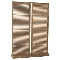 Teak Wood Outdoor Screen | Wooden Garden Patio & Pool Screens ❤ liked on Polyvore featuring home, outdoors, outdoor decor, outdoor wood screen, garden screen, patio screen and outside garden decor