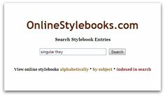 Searchable Online Stylebooks Website. priceless tool