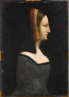 Workshop of LEONARDO DA VINCI   Portrait of a Woman, known as La Belle Ferronière. Louvre  #TuscanyAgriturismoGiratola