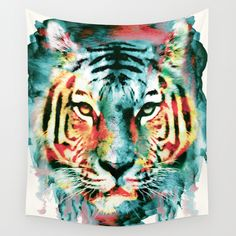 TIGER+Wall+Tapestry+by+RIZA+PEKER+-+$39.00