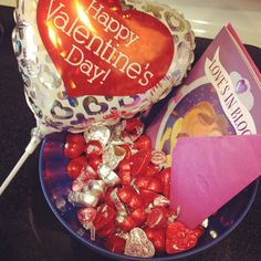I woke up to a bowl full of chocolate. My hubby knows me so well!