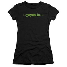 PSYCH THE PSYCHIC IS IN Juniors Sheer Cap Sleeve T-Shirt