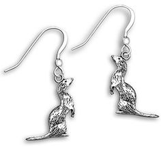 Sterling Silver Ferret Earrings by The Magic Zoo * Want additional info? Click on the image. (This is an affiliate link) #Earrings