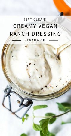 Creamy Vegan Ranch Dressing that can be made without oil! Low calorie & made with silken tofu. Dairy-free, Nut-free, Gluten-Free and ZERO Cholesterol! Perfect for salads, wraps, bowls or as a veggie dip! via calorie dinner Creamy Vegan Ranch! Vegan Ranch Dressing, Ranch Dressing Recipe, Low Calorie Vegan, No Calorie Foods, Vegan Sauces, Vegan Dishes, Dairy Free Veggie Dip, Silken Tofu Recipes, Vegetarian Cooking
