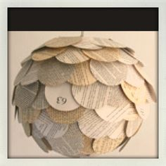 Paper circle ball decoration