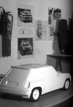 OG   Renault 5 Turbo   Scale clay model designed by Yves Legal from Renault-Berex