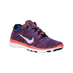 Nike Women's Free 5.0 TR Flyknit Training Shoes (1,675 MXN) ❤ liked on Polyvore featuring shoes, athletic shoes, black, black training shoes, flexible shoes, athletic training shoes, flyknit shoes and nike athletic shoes