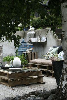 Table basse réalisée avec des palettes / Terrace Home