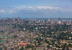 in AFRICA Maputo is the capital of Mozambique to Delagoa Bay on the Indian Ocean. Maputo, People Around The World, Around The Worlds, 10 Interesting Facts, Griffith Observatory, African Countries, World's Fair, San Francisco Skyline, Airplane View