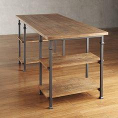 TRIBECCA HOME Myra Vintage Industrial Modern Rustic Oak Storage Desk | Overstock™ Shopping - Great Deals on Tribecca Home Desks