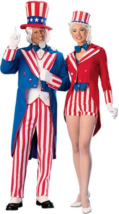 Lady Uncle Sam Adult Costume - Fantasy Costumes