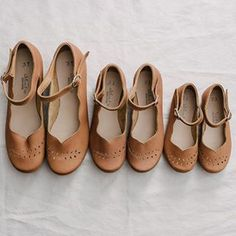 Pretty little Cosechas, all in a row. These handcrafted leather shoes for mamas and kids make all of your twinning dreams come true.