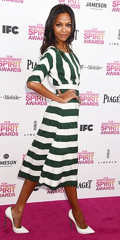 I so want her green & white dress for Spring!