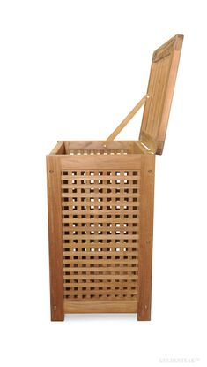 Teak Hamper - great for bathrooms, exercise clubs, pools etc. Outdoor Chairs, Outdoor Furniture, Outdoor Decor, Hamper, Pools, Teak, Bathrooms, Laundry, Basket