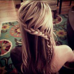 #hair #waterfall #braid
