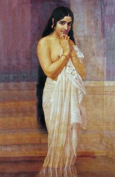 Raja Ravi Varma has captured the sensuousness of the Indian woman in this painting...