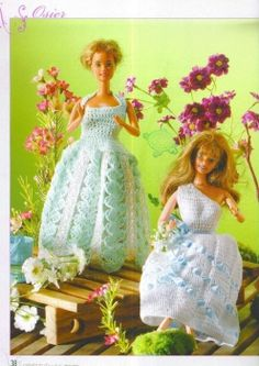 Easy  Barbie dresses ♥LCD♥ with diagrams