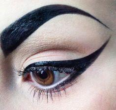 DRAMA!!! The ultimate dramatic eyebrow and cat eye eyeliner.