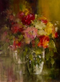 Floral Paintings, Paintings I Love, Art Flowers, Flower Art, Still Life Flowers, Amazing Art, Insects, Pastel, Deco