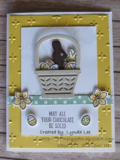 Basket Bunch with chocolate bunny