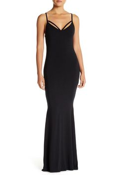 Image of Go Couture Strappy V-Neck Maxi Dress