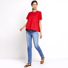 Co | Cotton poplin tiered top | Goop
