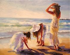 Artist Atelier Cecilia Rosslee ... Duminy Girls..Camps Bay Beach in Cape Town, South Africa...beautiful <3<3