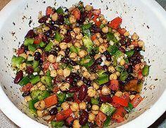 photo recette salade fèves haricots pois chiches marinées grecque la gourmande modeste