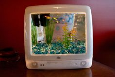 recycled iMac becomes a fish tank