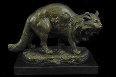 ...Handmade...European Bronze Sculpture A Persian Cat By Charles Emile Jonchery Hotcast (AL-126-EU) Bronze Sculpture Statues Figurine Nude Office & Home Décor Collectibles Sale Deal Gifts