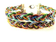 Braided RECYCLED PHONE/COMPUTER wire Bracelet by gr8byz on Etsy