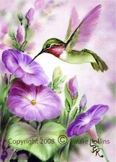 Resultado de imagen para como pintar un colibri en madera