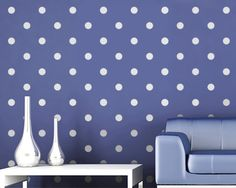 Polka dot accent wall in a little girls room would be adorable!