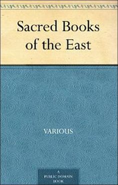 Sacred Books of the East - free pdf download