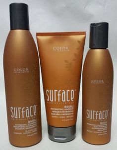Surface Sulfate Free Bassu Hydrating Shampoo 10 Oz. Conditioner 6 Oz. And Hydrating Masque 6 Oz. by Surface. $50.07. Surface Bassu Hydrating Masque 6 oz. Surface Bassu Hydrating Shampoo 10 oz. Surface Bassu Hydrating Conditioner 6 oz. Shampoo 10 oz. - CLEANSE, SOFTEN, SHINE. Luxurious moisture for dry hair. Natural palm and coconut oils gently cleanse while babassu seed oil penetrates and softens. Conditioner - 6 oz. - SOFTEN, DETANGLE, SHINE. Babassu seed oil...