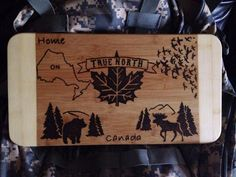 True north Canada cutting board  on Etsy, $35.00 CAD