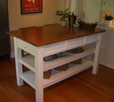 Handcrafted Kitchen Island Solid Wood by BorboletaDecors on Etsy