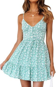 Style Dome Women's V-Neck Beach Summer Dresses Strappy Mini Dress Sexy Boho Casual Party Short Fitting Sundresses Cute Summer Outfits, Spring Outfits, Summer Dresses, Beach Sundresses, Pretty Dresses, Sexy Dresses, Mini Dresses, Elegant Dresses, Corset Dresses