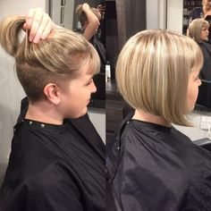 peek a boo! rad undercut bob & highlights by Chelsea