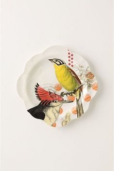 """On Safari Salad Plate   #073941  8.25"""" diameter. color: SAND. This is from Anthopologie. Yellow Bird http://re.pn/b/bneK"""