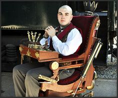 Steampunk Prof. X Wheelchair- were I ever to be crippled...